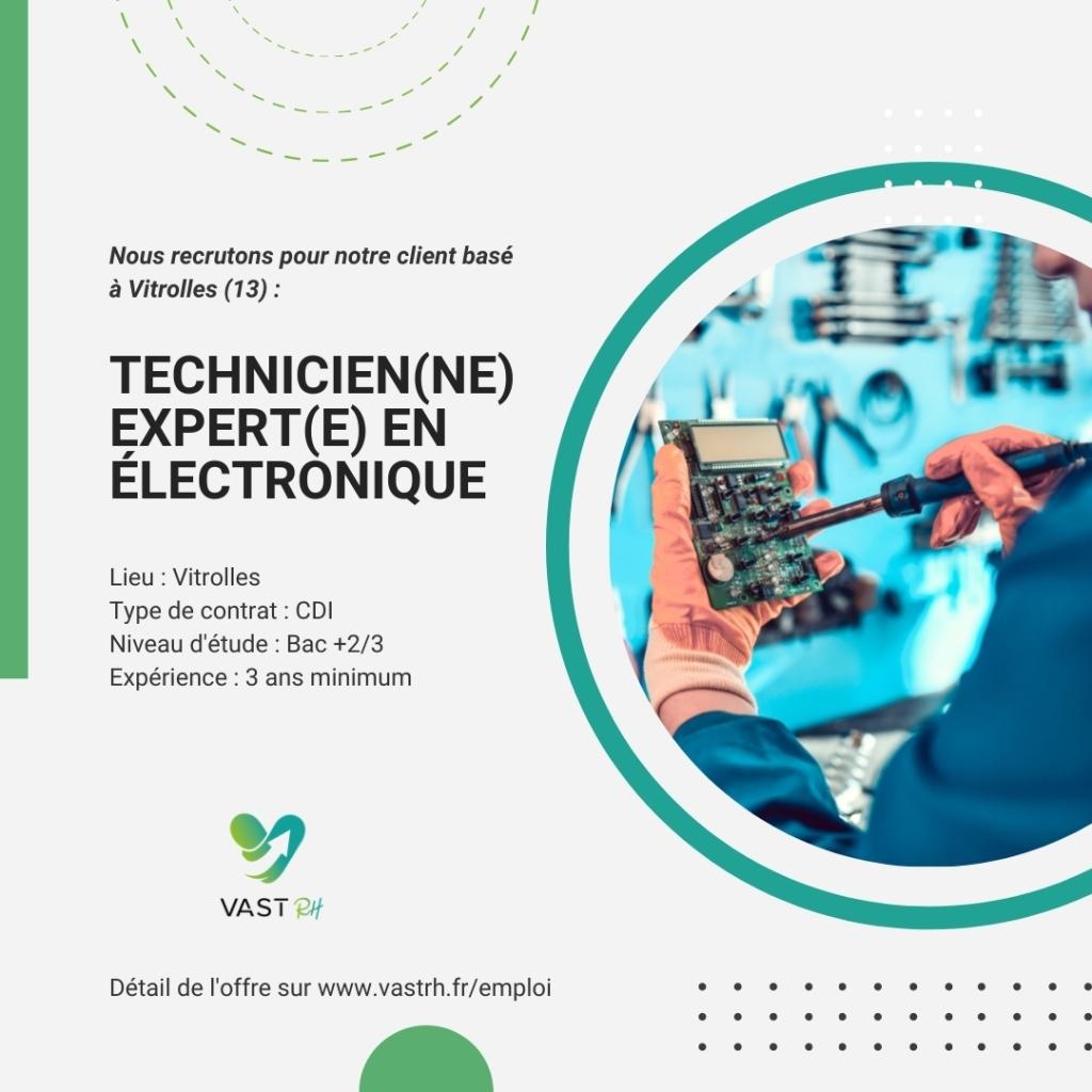 Technicien(ne) expert(e) en électronique (H/F)
